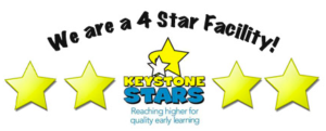 We are designated as a 4 star facility by Keystone Stars